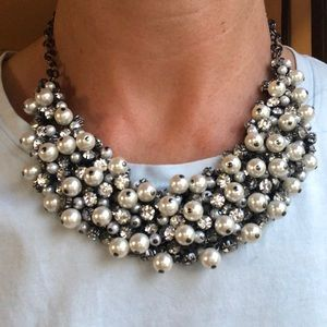 Premier Designs pearl & rhinestone  necklace